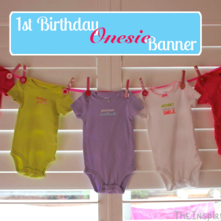 1st Birthday Party Ideas: Onesie Banner Tutorial