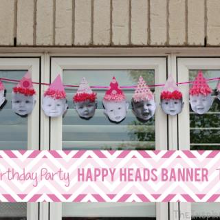 Birthday Party Ideas: Happy Heads Birthday Banner
