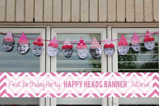 Birthday Party Ideas Happy Heads Birthday Banner The Inspired Home
