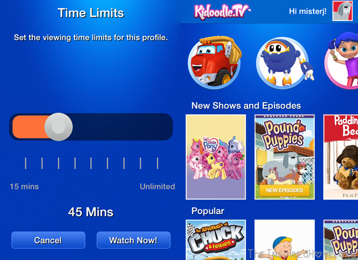 KidoodleTV Setting Screen Time Limits for Kids