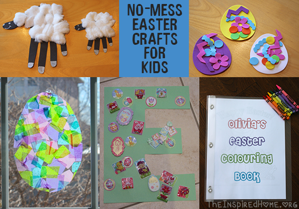 no mess easter crafts • The Inspired Home