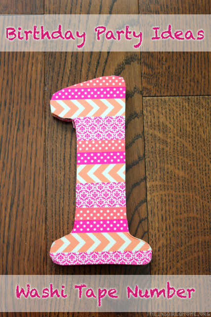 TheInspiredHome.org // Kids Birthday Party Decoration Ideas: Washi Tape Number