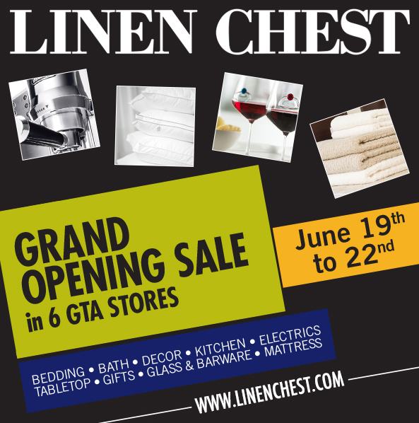 Linen Chest Grand Opening Sale