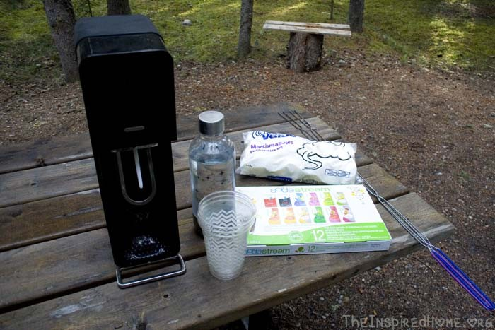 TheInspiredHome.org // Fun Camping Treats: S'Mores & SodaStream #BubblesMyWay
