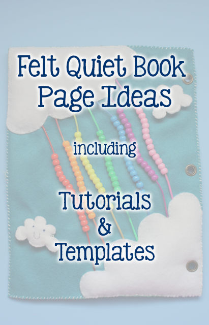TheInspiredHome.org // A collection of felt quiet book page ideas including free templates and tutorials!