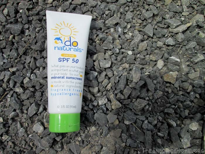 TheInspiredHome.org // Natural Sunscreen for Kids Dolphin Organics