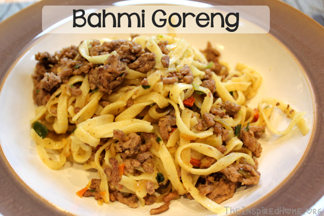 TheInspiredHome.org // Bahmi Goreng (aka Bami Goreng) Recipe - A traditional Dutch dish of Indonesian Cuisine