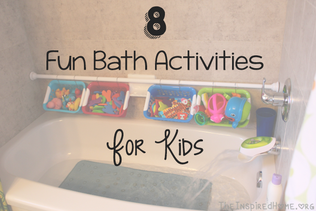 TheInspiredHome.org // 8 Fun Bath Activities for Kids including homemade bath paint, homemade bath crayons, spelling activities, number activities and more!