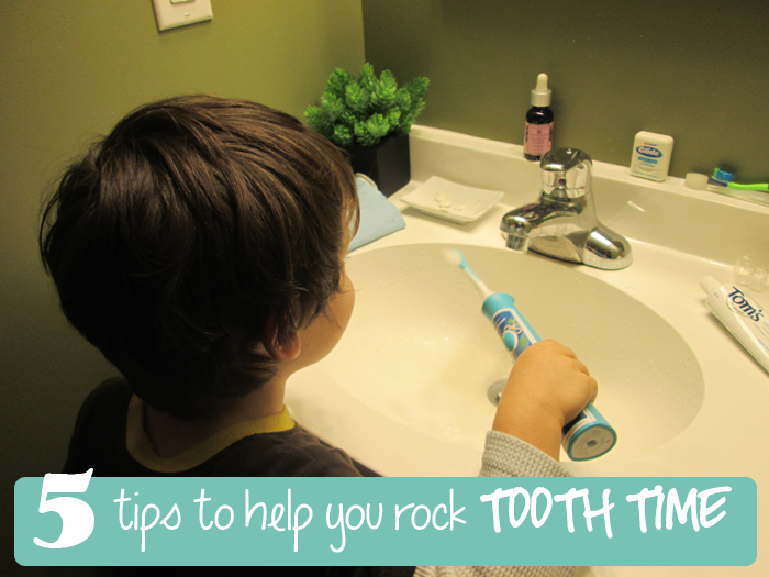 TheInspiredHome.org // 5 Tips To Rock Tooth Time, Brushing Teeth Routine Made Easy #sonicaresmiles