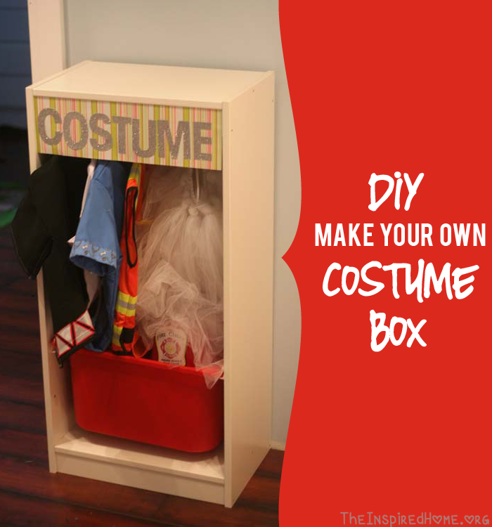 TheInspiredHome.org // DIY Costume Box, Make Your Own Costume Storage