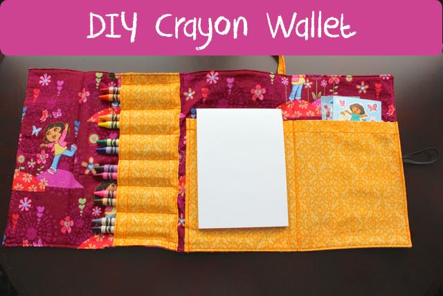 TheInspiredHome.org // DIY Crayon Wallet Tutorial including sticker pocket!