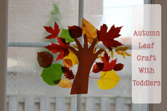 Autumn Leaf Craft With Toddlers The Inspired Home
