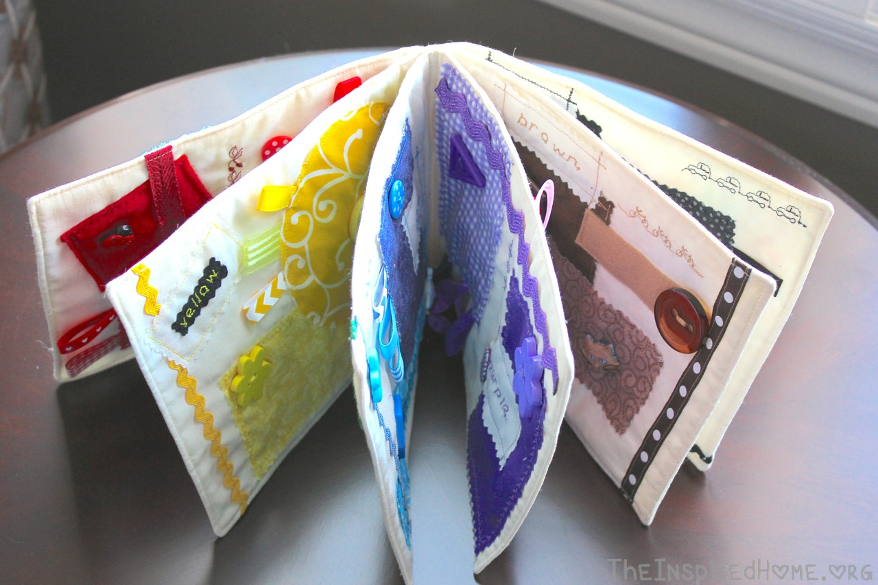 DIY: Sew a Fabric Color Book for Baby & Toddler • The ...