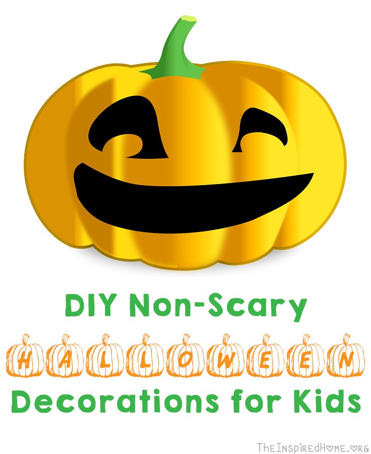 TheInspiredHome.org // Non-Scary Halloween Decorations you can make with your kids. Perfect for toddlers who find traditional Halloween decorations too frightening.