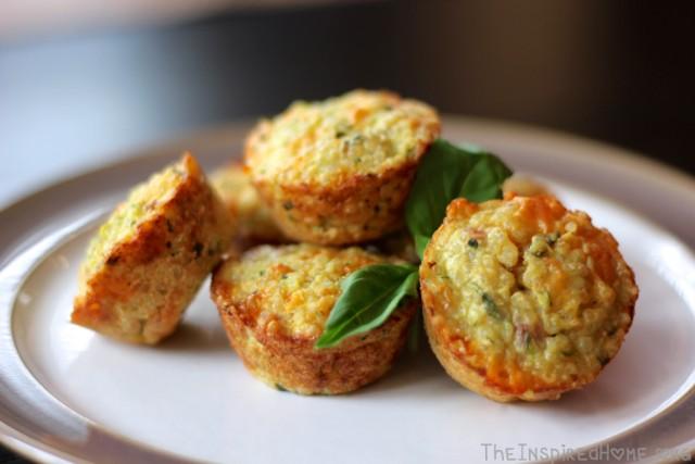 TheInspiredHome.org // Mini Quinoa Breakfast Muffins with ham & cheese