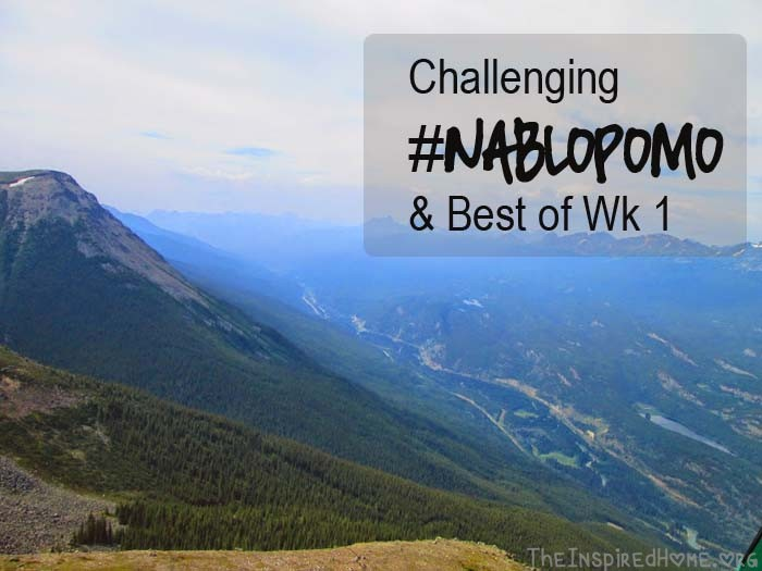 TheInspiredHome.org // Challening #NaBloPoMo & Best of Week 1