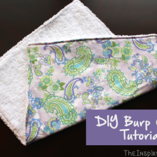 DIY Baby Burp Cloth