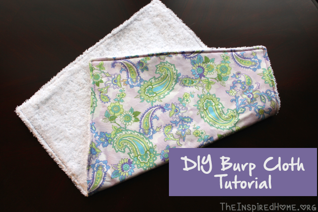 Diy Baby Burp Cloth The Inspired Home