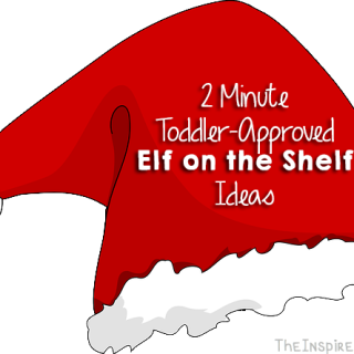 TheInspiredHome.org // Quick 2-Minute Elf on the Shelf Ideas for Toddlers