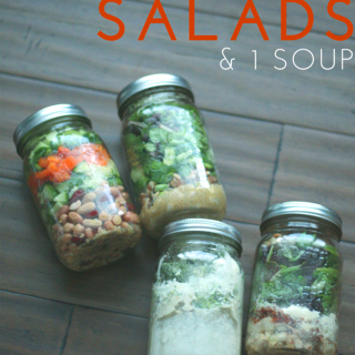 3 Mason Jar Salads + 1 Soup