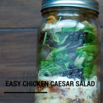 TheInspiredHome.org // Easy Mason Jar Chicken Caesar Salad on 3 Easy Mason Jar Salads & 1 Soup. Perfect for make-ahead lunches.