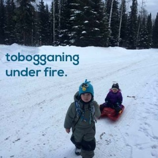 Tobogganing under fire