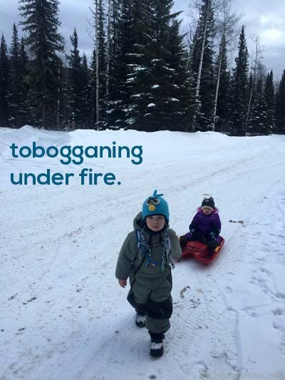 TheInspiredHome.org // Why my kids are still tobogganing, and why this mom and recreation professional refuses to give up on simple outdoor play - no matter the season.