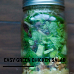 TheInspiredHome.org// Full of veggies, and easy to prepare in advance, this easy green chicken salad will fill you up at lunch!
