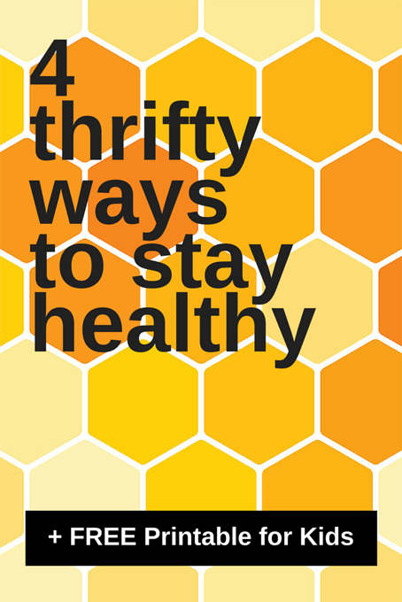 TheInspiredHome.org // 4 Thrifty Ways to Stay Healthy, a free Printable about Bees and Why We've Changed to Honibe(R) brand vitamins. #HonibeBuzz