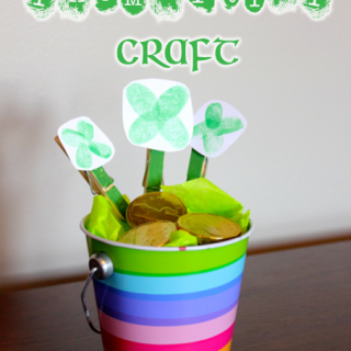 Lucky Shamrock Thumbprint Craft
