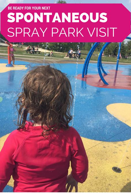 Mini Adventure Spontaneous Spray Park Visit