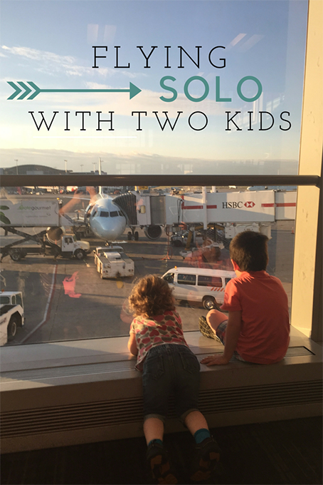 TheInspiredHome.org // Flying Solo with Two Kids. 5 Helpful Tips to keep your sanity and prepare for your trip. Bon voyage!