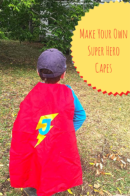 Make Your Own Reversible Super Hero Capes