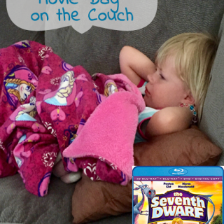 Sick Toddler = Movie Day on the Couch