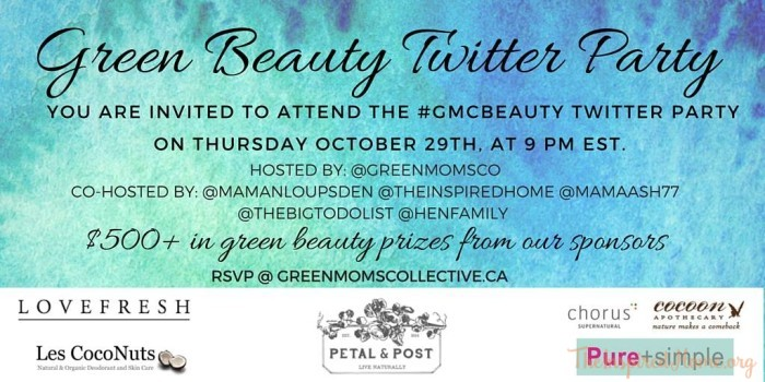 Green Beauty Twitter Party