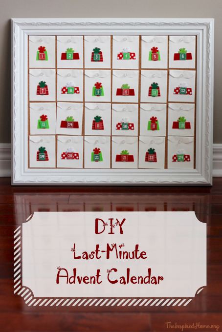 TheInspiredHome.org // Last Minute DIY Advent Calendar.