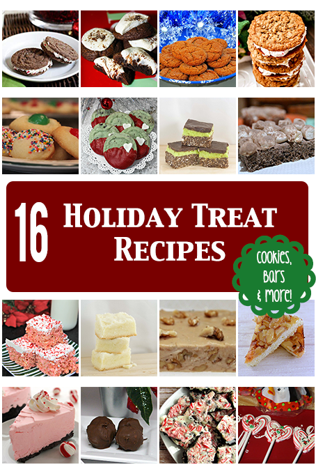 TheInspiredHome.org // 16 Holiday Treat Recipes including cookies, bars, bark, fudge, cheesecake and more!