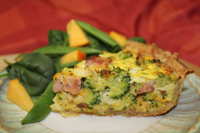 ham broccoli quiche 1