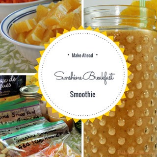 Make-Ahead Sunshine Breakfast Smoothie