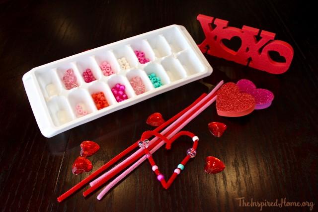 valentine beaded heart garland - 1