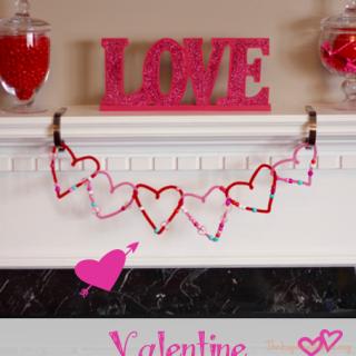 Valentine Beaded Heart Garland Tutorial