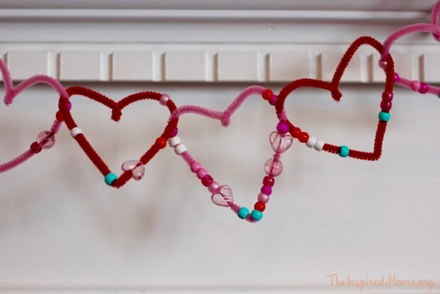 valentine beaded heart garland - 8