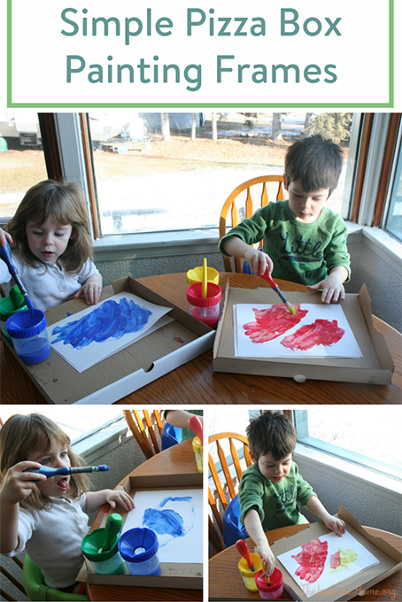 Simple Pizza Box Painting Frames