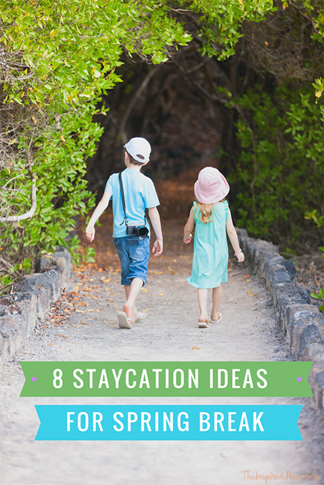 TheInspiredHome.org // 8 Staycation Ideas for Spring Break. Ways to have fun & not break this bank this March Break!