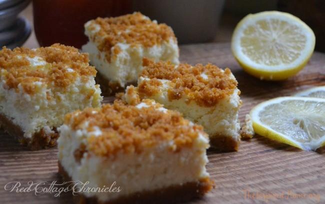 A light and fluffy lemon dessert with a bit of sweet crunch on top