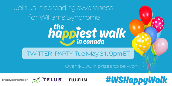 theinspiredhome:// Williams Syndrome Happy Walk Twitter Party