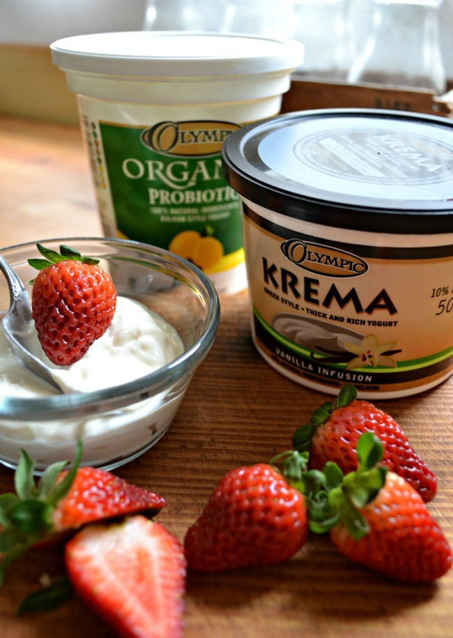 Olympic Dairy Krema Strawberry Vanilla Greek Yogurt Pops