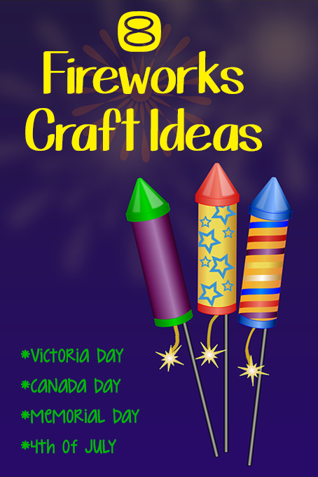 TheInspiredHome.org // 8 Fireworks Craft Ideas perfect for Victoria Day, Canada Day, Memorial Day or the 4th of July