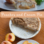 TheInspiredHome.org // Peaches and Cream Pie. A simple sour-cream based pie recipe using fresh peaches.