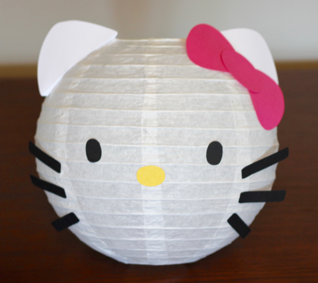 TheInspiredHome.org // Hello Kitty Birthday Party Paper Lanterns